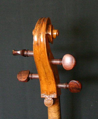 Castagneri cello LaFille head