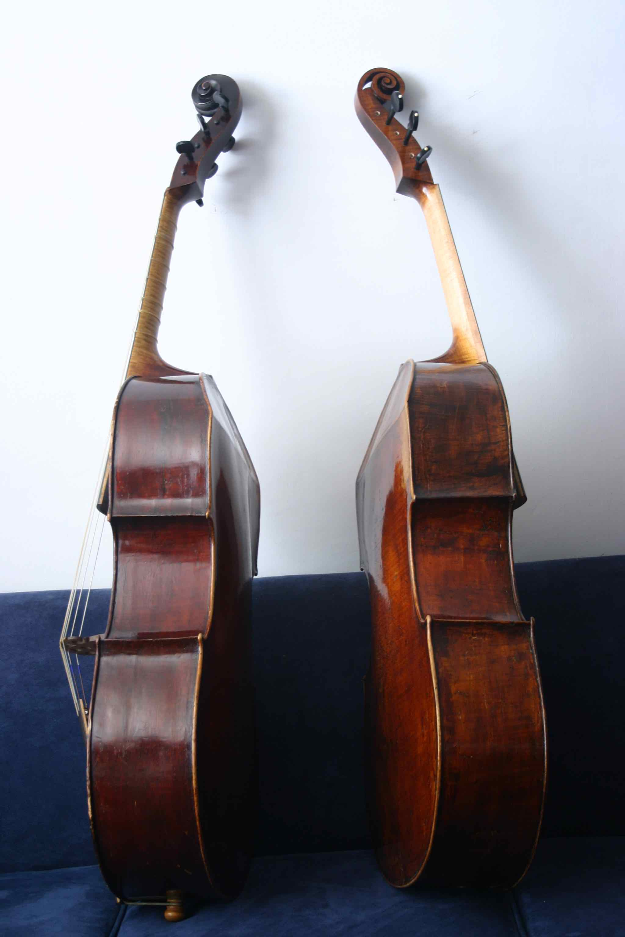 Two viols by Lewis light